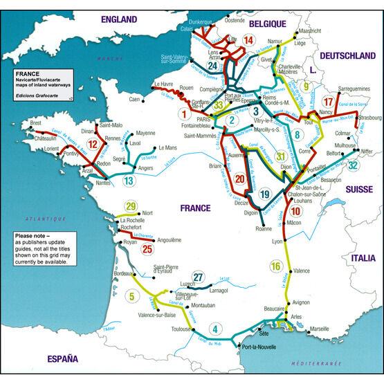 Imray Fluviacarte No. 21. France Inland Waterways Map Guide