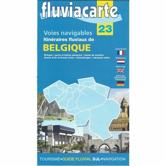 Imray Fluviacarte 23: Carte de Belgique - Waterways of Belgium