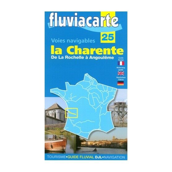 Imray Fluviacarte 25: Charente - Angoulême to Bay of Biscay