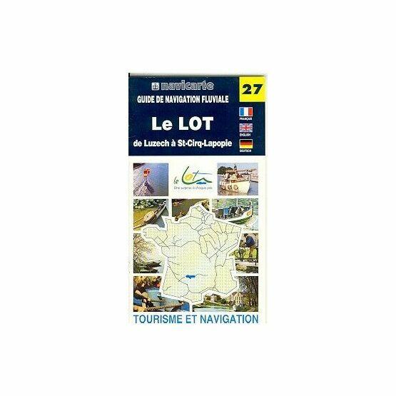 Fluviacarte No. 27. Le Lot - Luzech to St Cirq - Lapopie Guide