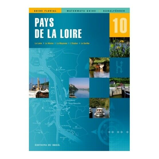 Imray Editions Du Breil No. 10 Pays de la Loire Waterway Guide