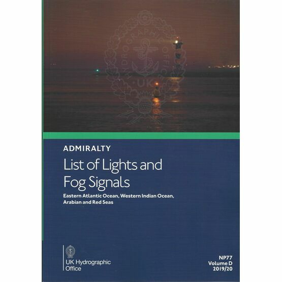 Admiralty NP77 List of Lights & Fog Signals (Volume D)
