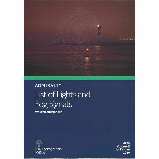Admiralty NP78 List of Lights & Fog Signals (Volume E)
