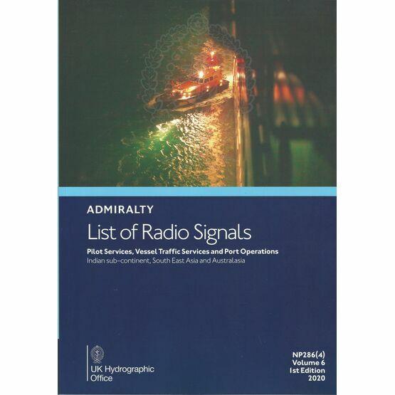 Admiralty NP286(4) List of Radio Signals (Volume 6 - Part 4)