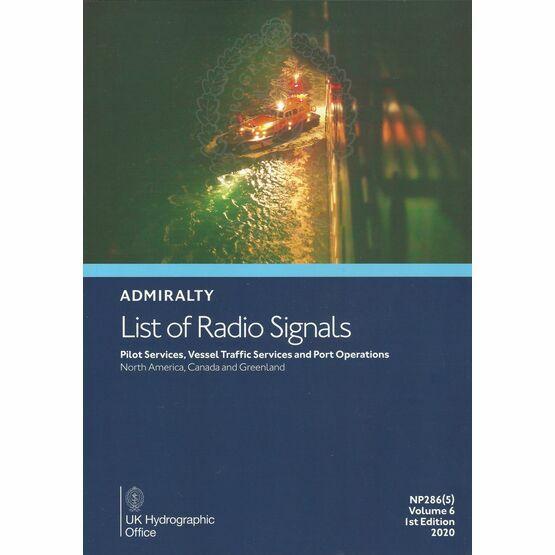 Admiralty NP286(5) List of Radio Signals (Volume 6 - Part 5)
