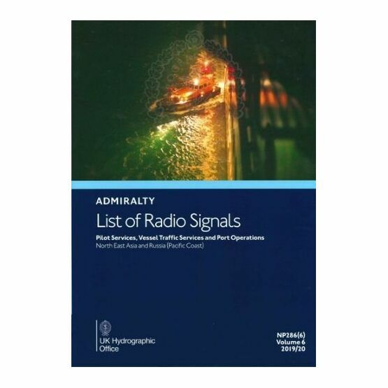 Admiralty NP286(6) List of Radio Signals (Volume 6 - Part 6)