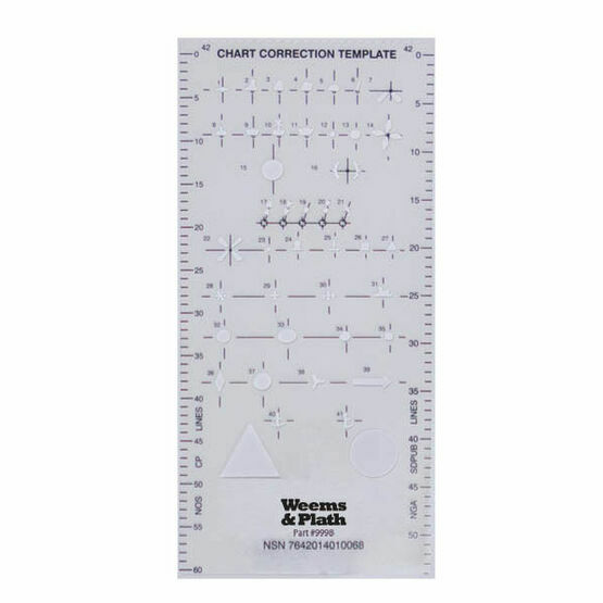 Weems & Plath Nautical Chart Correction Template