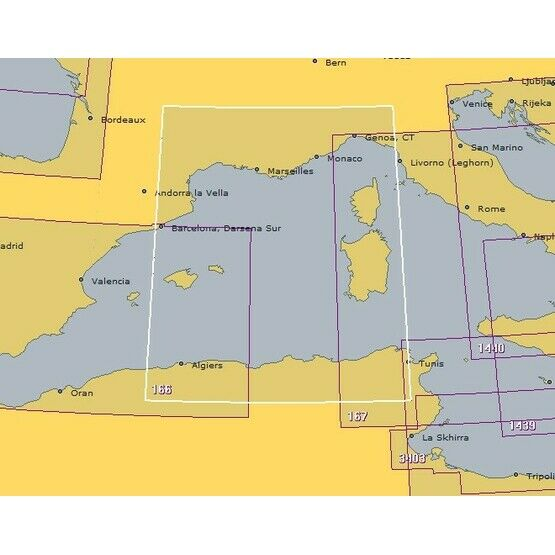 166 Alger to Genova & Tunis Admiralty Chart