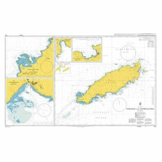477 - Tobago and Approaches Admiralty Chart