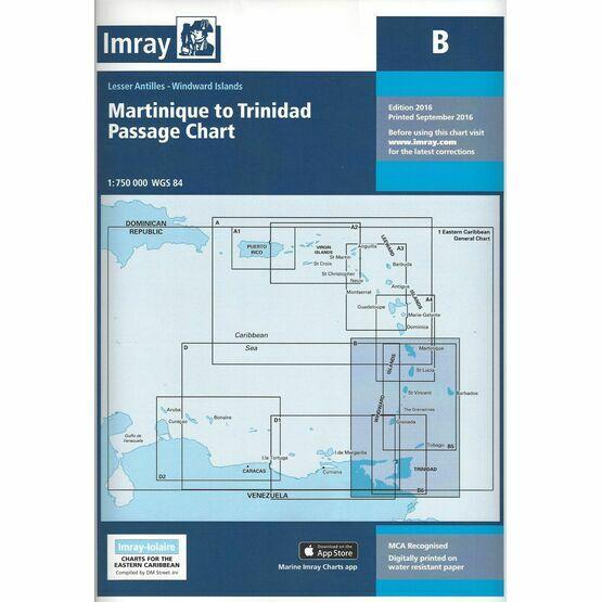 Imray B Martinique to Trinidad Passage Chart
