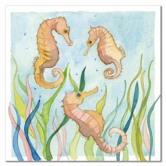 Emma Ball Gentle Seahorses Greetings Card