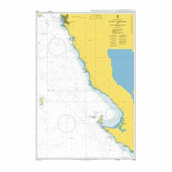 1029 Punta Abreojos to San Diego Bay Admiralty Chart