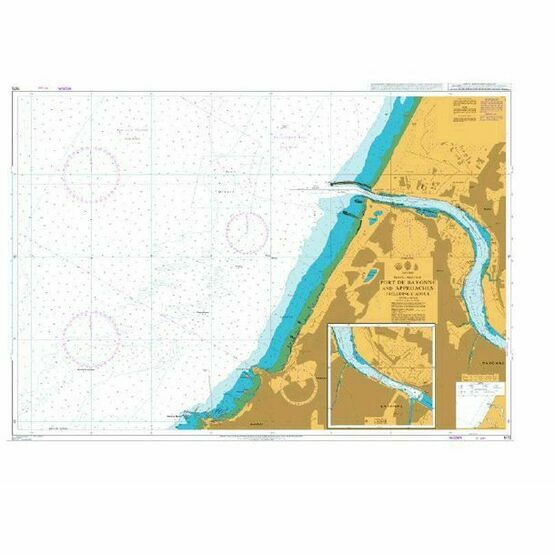 1175 Port de Bayonne and Approaches including L 'Adour Admiralty Chart