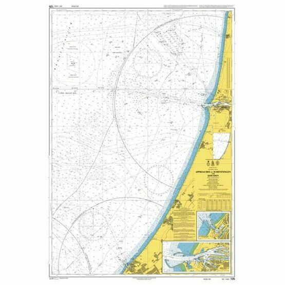 125 Approaches to Scheveningen and Ijmuiden Admiralty Chart