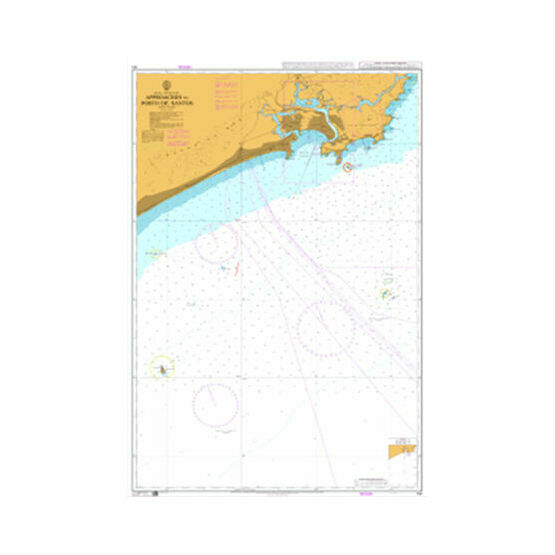 191 Approaches to Porto de Santos Admiralty Chart
