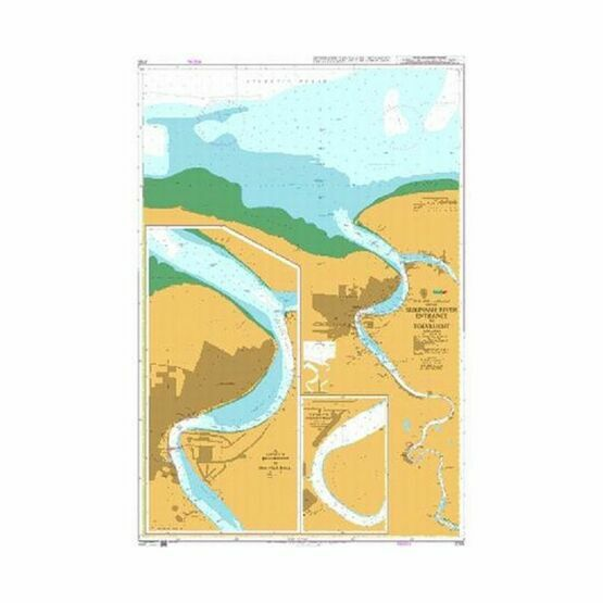 2765 Suriname River Entrance to Toevlucht Admiralty Chart
