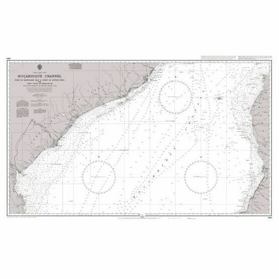 3878 Mozambique Channel Central Part Admiralty Chart