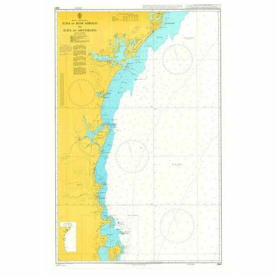 3981 Ilha de Bom Abrigo to Ilha do Arvoredo Admiralty Chart