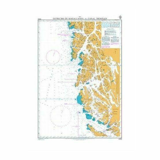 4259 Estrecho de Magallanes to Canal Trinidad Admiralty Chart
