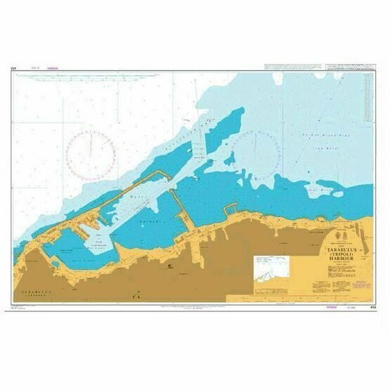 455 Tarabulus Tripoli Harbour Admiralty Chart only 2520