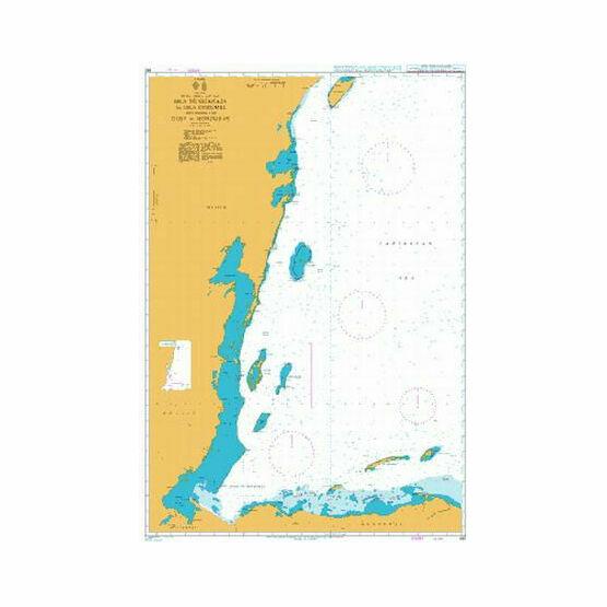 662 Isla de Guanaja to Isla Cozumel including the Gulf of Honduras Admiralty Chart