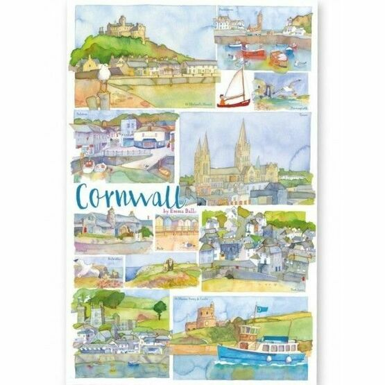 Emma Ball Cornwall Tea Towel - C