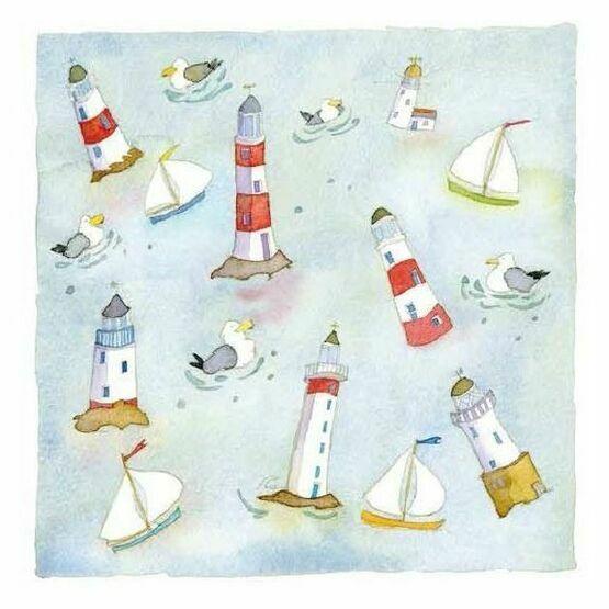 Emma Ball 'Lighthouses Afloat' Coaster