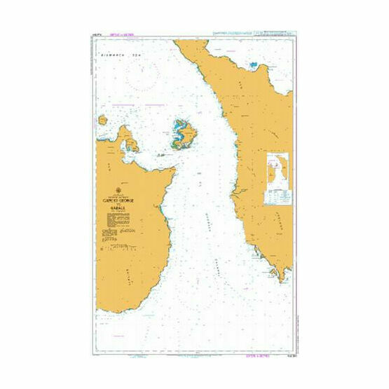 AUS554 Cape St George to Rabaul Admiralty Chart