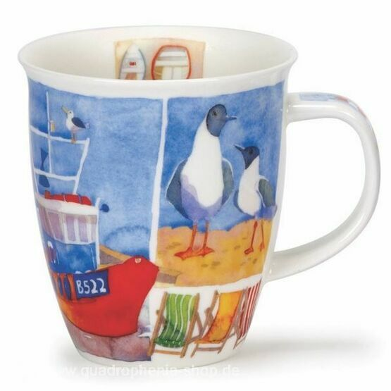 Dunoon Sea Breeze Deckchairs Nevis Shaped Mug