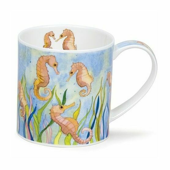 Dunoon Seaside Seahorses Orkney Shaped Mug