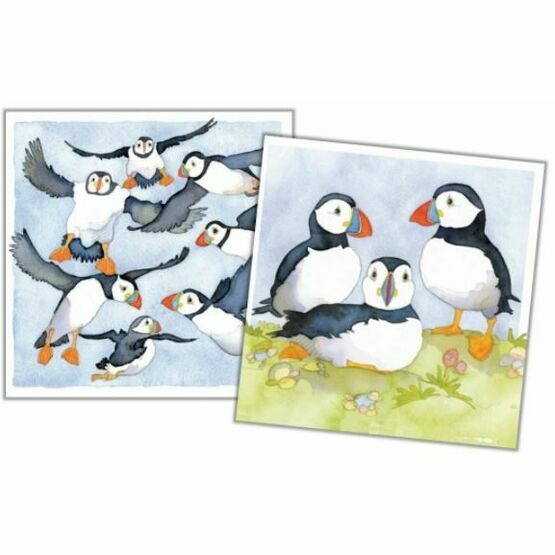 Emma Ball Puffins Mini Notecards - Pack of 10