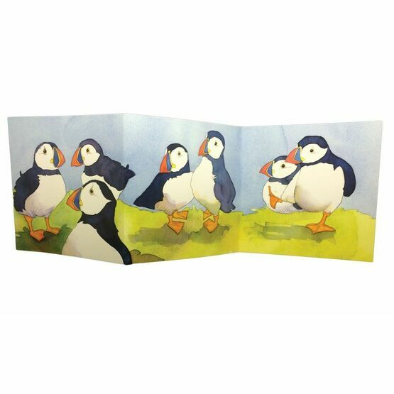 Emma Ball 'Puffin's Day Trip' Two-Fold Card