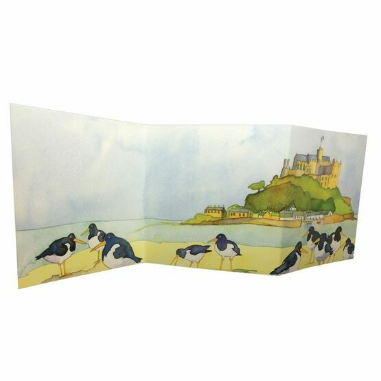 Emma Ball 'Oystercatcher's View' Two-Fold Card