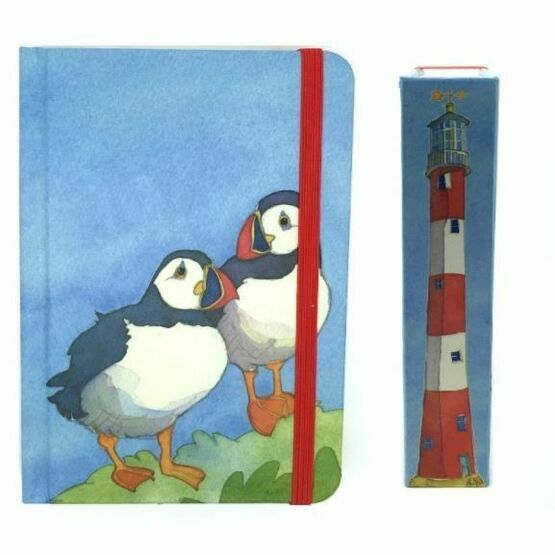 Emma Ball Hardback Notebook A6 - Puffins