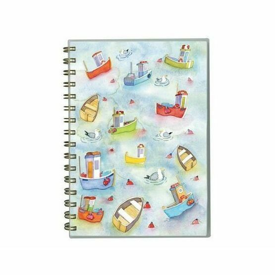 Emma Ball 'Boats Afloat' A5 Wirebound Notebook