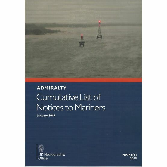 Admiralty NP234(A) Cumulative List of Notices to Mariners