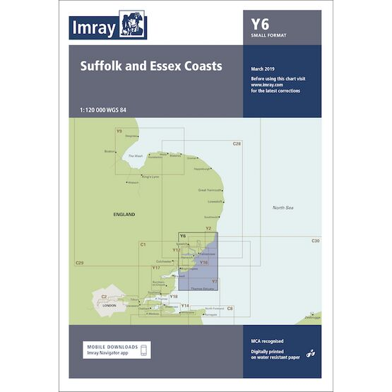 Imray Chart Y6: Suffolk & Essex Coasts