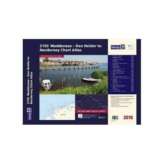 Imray 2150 Waddenzee - Den Helder to Norderney Chart Atlas