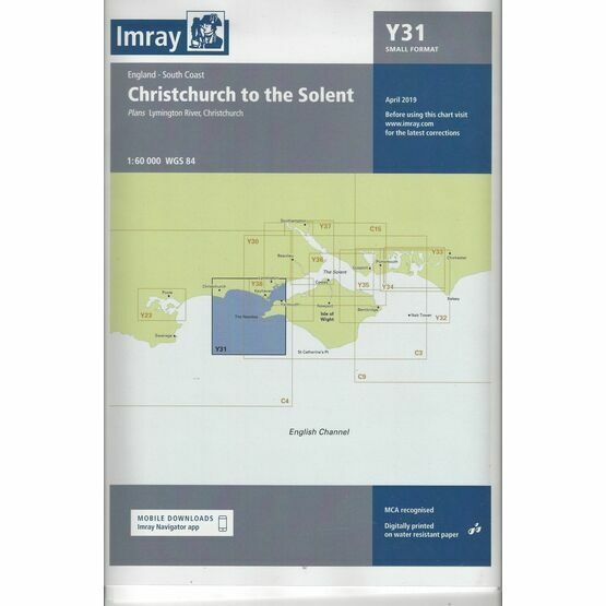 Imray Chart Y31: Christchurch to the Solent