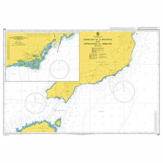 1863 Islas Canarias, Puerto de los Marmoles to Puerto del Roserio Admiralty Chart