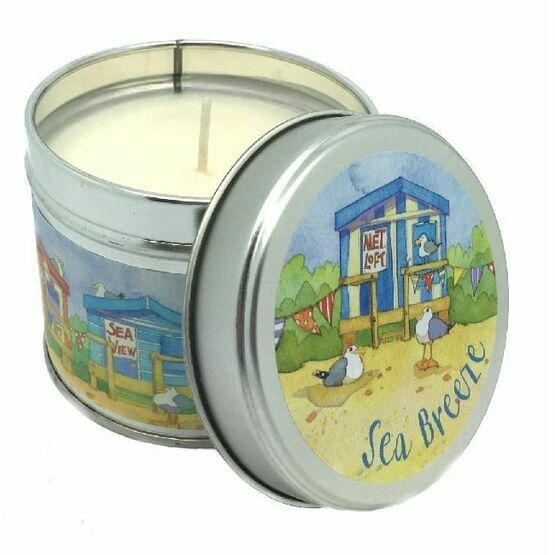 Emma Ball 'Beach Huts' Sea Breeze Scented Candle Tin