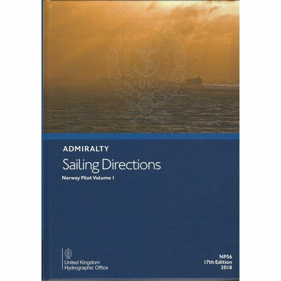 Admiralty NP56 Sailing Directions Norway Pilot Volume 1