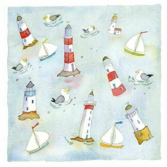 Emma Ball Around The Lighthouse Greetings Card