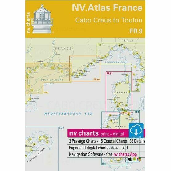 NV Atlas France FR9: Cabo Creus to Toulon