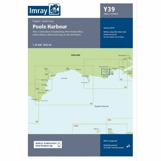 Imray Chart Y39: Poole Harbour