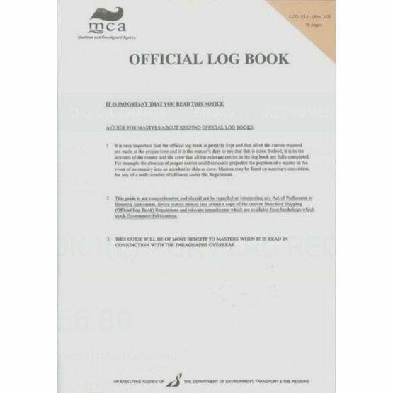MCA Official Log Book