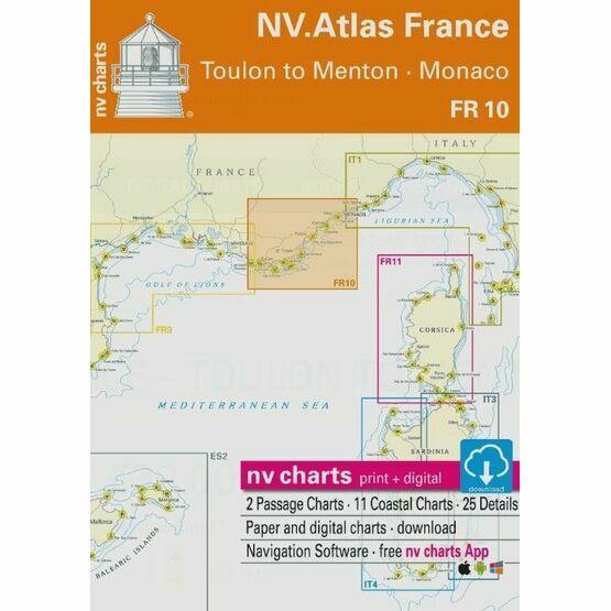 NV Atlas France FR10: Toulon to Menton - Monaco