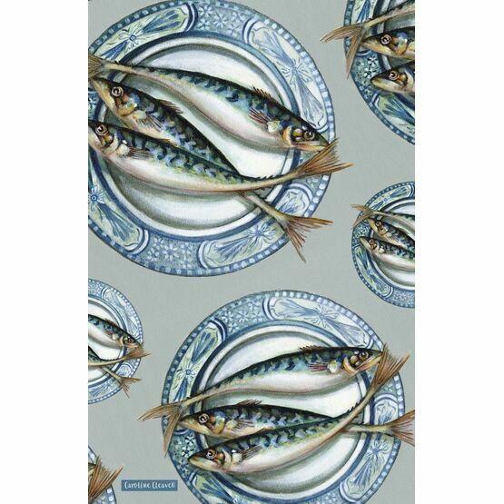 Emma Ball Plated Mackerel Tea Towel