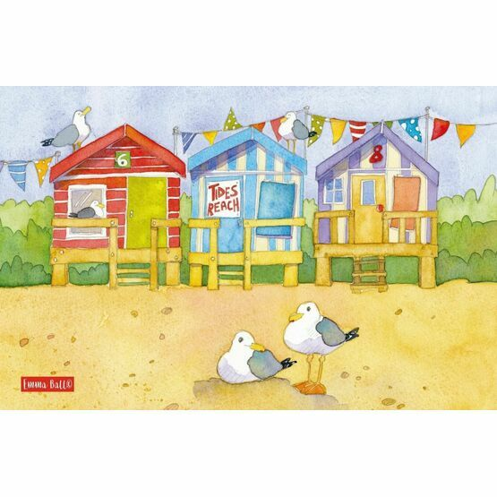 Emma Ball A Day at the Seaside Tea Towel