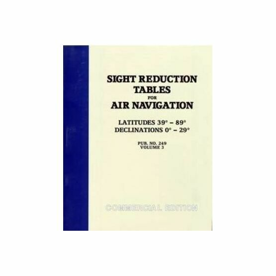 Sight Reduction Tables for Air Navigation, Volume 3